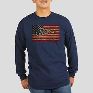 Join, Or Die -Flag Long Sleeve Dark T-Shirt