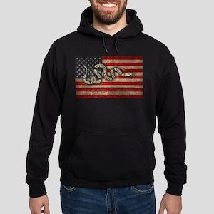 Join, Or Die -Flag Hoodie (dark)