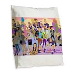 Lube Cast Burlap Throw Pillow