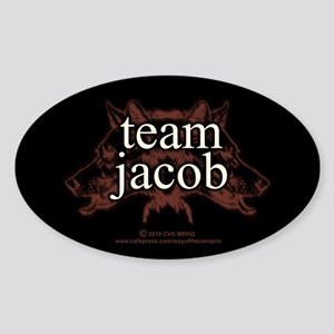 Team Jacob Shapeshifter Sticker (Oval)