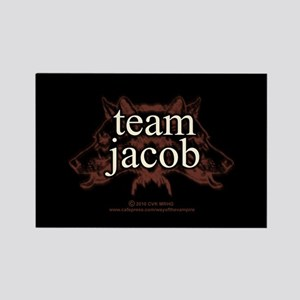 Team Jacob Shapeshifter Rectangle Magnet