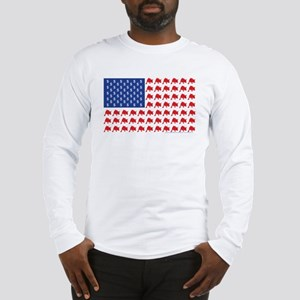 Patriotc Wall Street Flag Long Sleeve T-Shirt