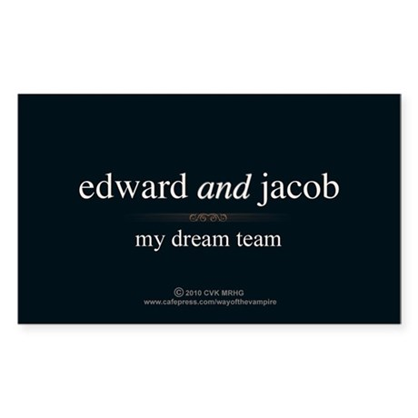Edward Jacob Dream Team Sticker (Rectangle)