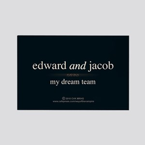 Edward Jacob Dream Team Rectangle Magnet