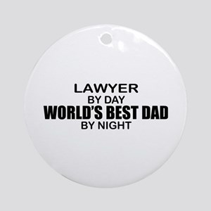 World's Best Dad - Lawyer Ornament (Round)