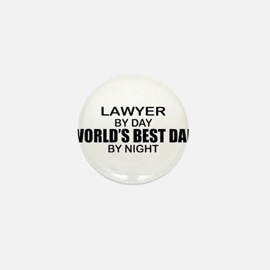 World's Best Dad - Lawyer Mini Button