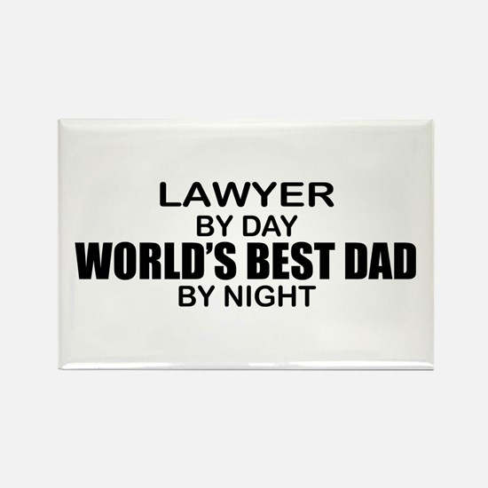 World's Best Dad - Lawyer Rectangle Magnet