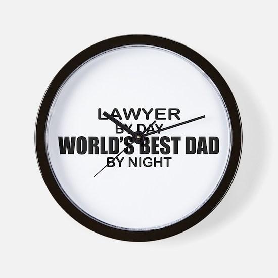 World's Best Dad - Lawyer Wall Clock