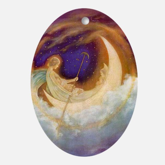 Moonboat to Dreamland Ornament (Oval)