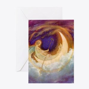 Moonboat to Dreamland Greeting Card