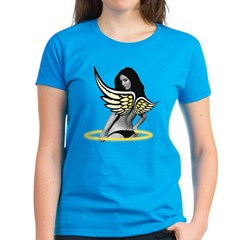 Angel Halo Wings Women's Dark T-Shirt