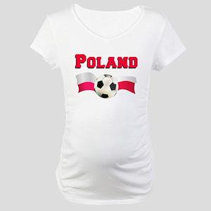 Poland Soccer Maternity T-Shirt