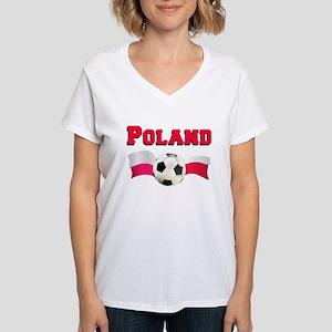 Poland Soccer Women's V-Neck T-Shirt