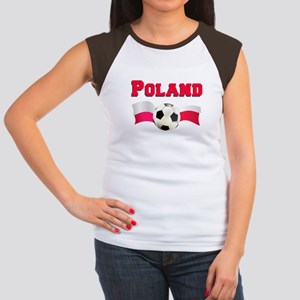 Poland Soccer Women's Cap Sleeve T-Shirt