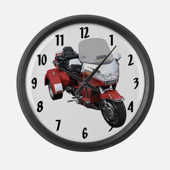 Cute Bikes Large Wall Clock