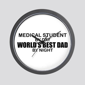 World's Best Dad - Medical Student Wall Clock
