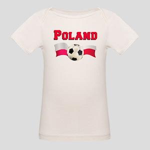 Little Polish Football Fan Organic Baby T-Shirt