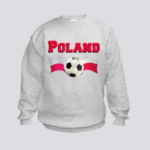 Little Polish Football Fan Kids Sweatshirt