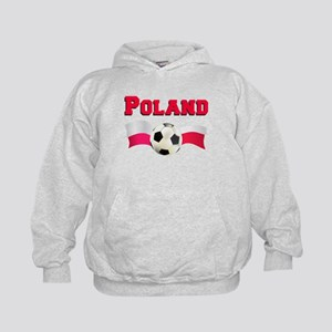 Little Polish Football Fan Kids Hoodie