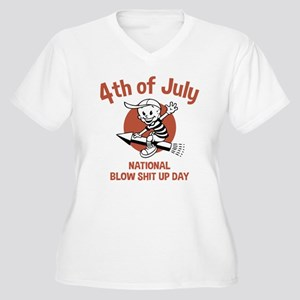 Blow Shit Up Day Women's Plus Size V-Neck T-Shirt