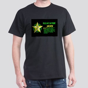Geocache Army Black T-Shirt