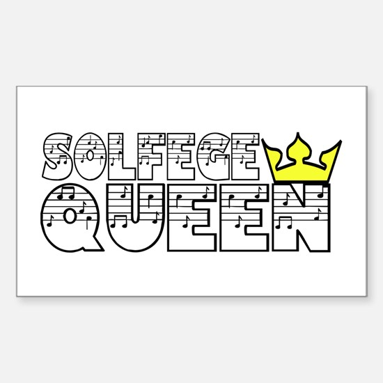 Solfege Queen Sticker (Rectangle)