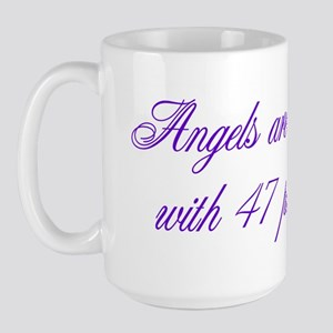 Angels are made... Large Mug