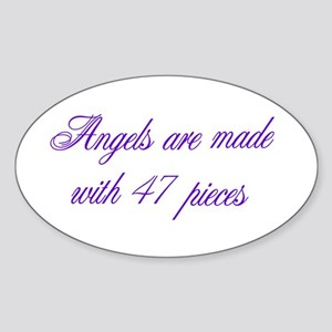Angels are made... Oval Sticker
