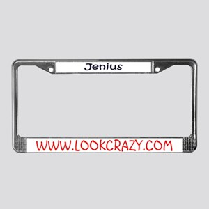 Jenius ...  License Plate Frame