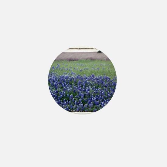 Blue Bonnets Mini Button