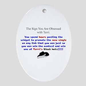 Terri Obsessed Ornament (Oval)