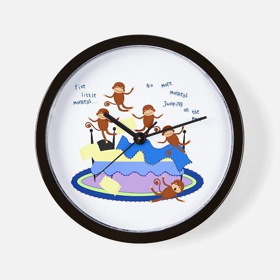 Five little Monkeys... Wall Clock