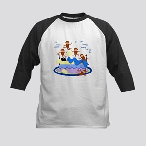 Five little Monkeys... Kids Baseball Jersey