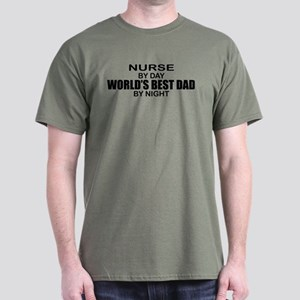World's Best Dad - Nurse Dark T-Shirt
