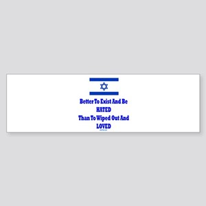 Israel's Right To Exist Sticker (Bumper)
