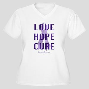 Cancer Awareness (lhc) Women's Plus Size V-Neck T-