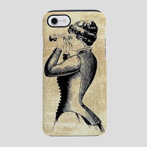 Vintage Woman With Binoculars iPhone 7 Tough Case