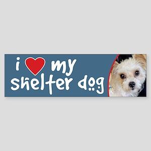 I Love My Shelter Dog-Yorkie/ShihTzu BumperSticker