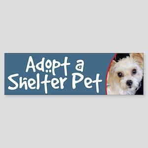 Adopt a Shelter Pet Yorkie/ShihTzu Bumper Sticker