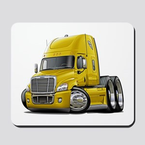 Freightliner Yellow Truck Mousepad