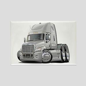 Freightliner White Truck Rectangle Magnet