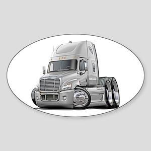 Freightliner White Truck Sticker (Oval)