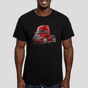 Freightliner Red Truck Men's Fitted T-Shirt (dark)