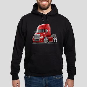 Freightliner Red Truck Hoodie (dark)