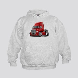 Freightliner Red Truck Kids Hoodie