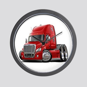 Freightliner Red Truck Wall Clock