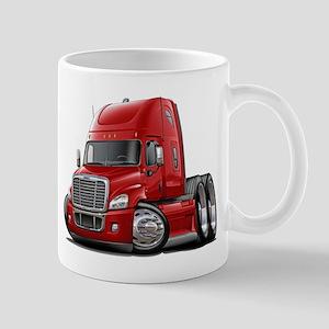 Freightliner Red Truck Mug