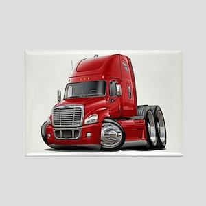 Freightliner Red Truck Rectangle Magnet