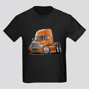 Freightliner Orange Truck Kids Dark T-Shirt