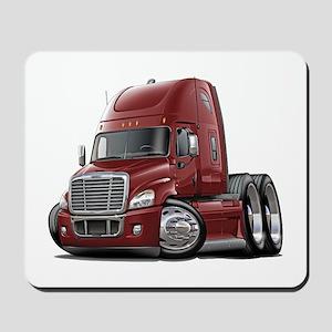 Freightliner Maroon Truck Mousepad